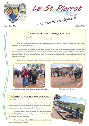 Gazette 26 mars avril 2013