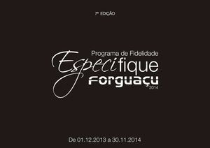 ESPECIFIQUE FORGUAÇU 2014