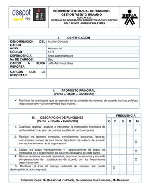Calaméo Manual De Funciones Auxiliar Contable