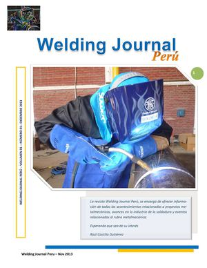 Revista - Welding Journal Perú - Raúl Castillo