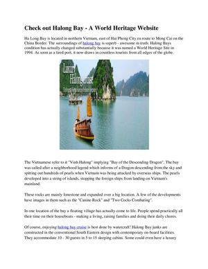 Check out Halong Ba