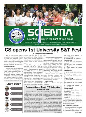Scientia - 1st Issue 2012-2013