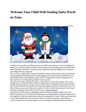 Welcome Your Child With Sending Santa Words on Xmas