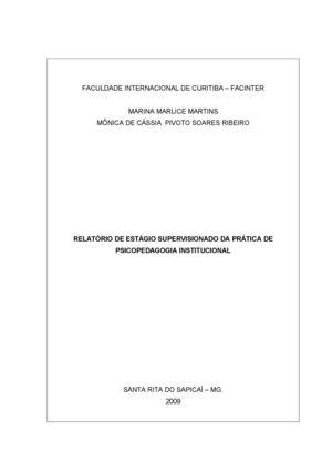 Calaméo Relatorio De Estagio Institucional