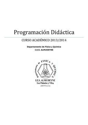 Calaméo - Programación Física y Química 2013-2014
