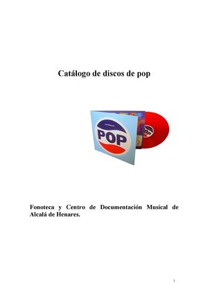 CATALOGO DISCOS POP