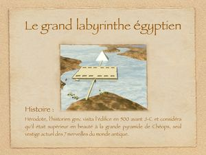 Le grand labyrinthe égyptien