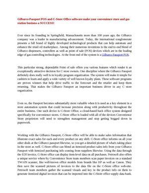 Calaméo - Gilbarco Passport POS and C-Store Office software make