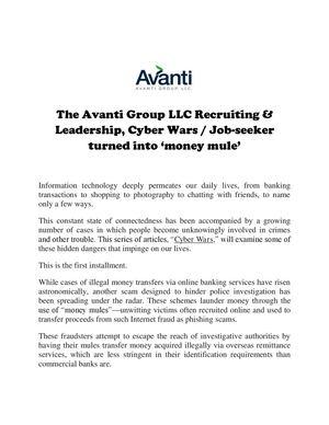 Calaméo - The Avanti Group LLC Recruiting & Leadership, Cyber Wars