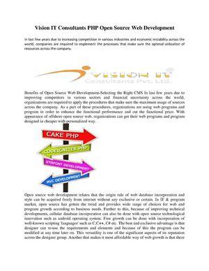 Calaméo - Advantage of PHP Open Source Web Development