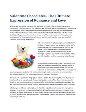 Strupy Treats With Valentine Chocolate