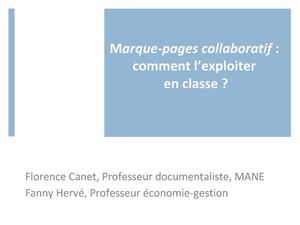 Marque-pages collaboratif