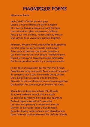 Calaméo Poème Dun Français Déraciné Dun Pied