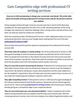 Calameo Professional Cv Writing Services