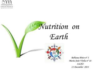 Nutrition on Earth by Maria João Vinha and