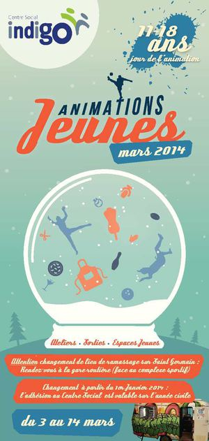 Vacances MARS Animations Jeunesse