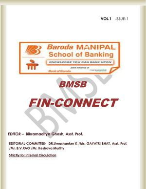 BMSB FIN Connect Vol 1 Issue 1