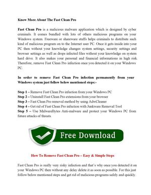 Calaméo - Uninstall Fast Clean Pro Infection Safely From