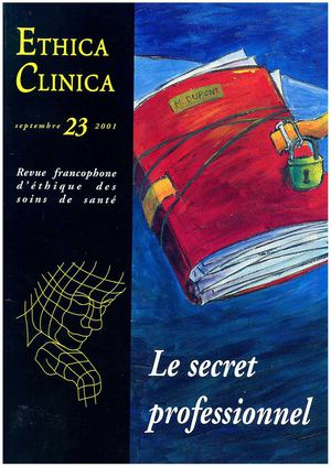 Le secret professionnel  - Ethica Clinica n° 23, 9/2001