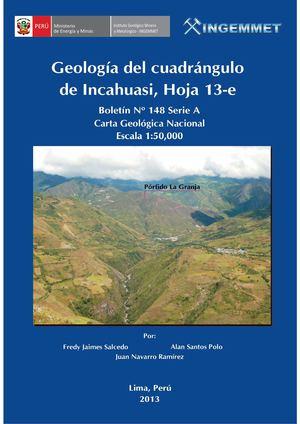 Calaméo - Boletin N° 148- Geología del cuadrángulo de Incahuasi ...