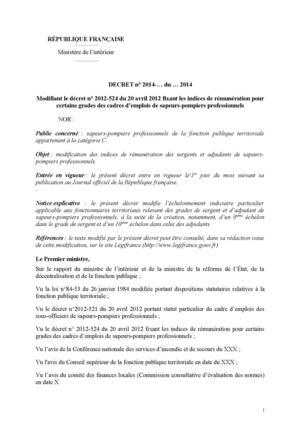 Calam o projet d cret indiciaire revalorisation grilles - Revalorisation grille indiciaire 2015 ...