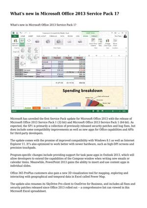 microsoft office 2013 sp1 release date