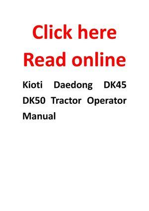 calam�o kioti daedong dk45 dk50 tractor operator manual kubota tractor wiring diagrams kioti daedong dk45 dk50 tractor operator manual
