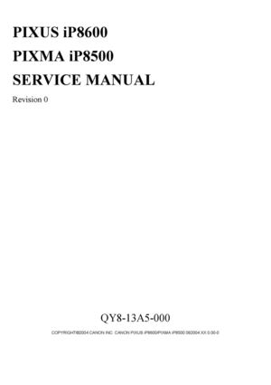 Calameo Service Manual Canon Ip 8500