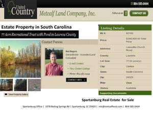 Estate Property in South Carolina