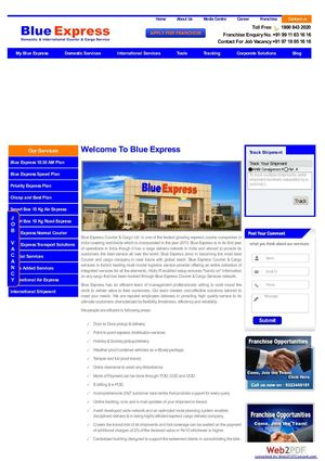 Blue Express - India's best courier services