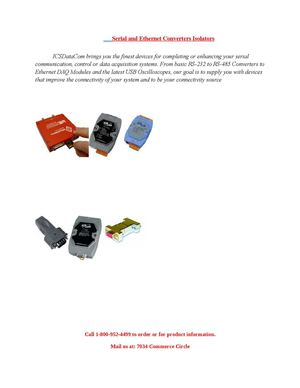 Serial And Ethernet Converters Isolators