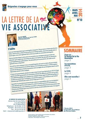 Lettre de la Vie Associative N°10 - Mars à avril 2014