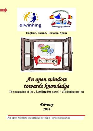 An open window towards knowledge. February.