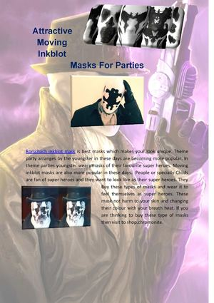 Attractive Moving Inkblot Masks For Parties
