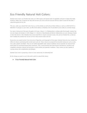 5 Eco Friendly Natural Holi Color From Mumbai Goes Green