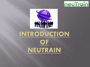 Find free training resources - Neutrain