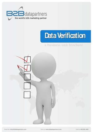 Data Verification from B2B Data Partners