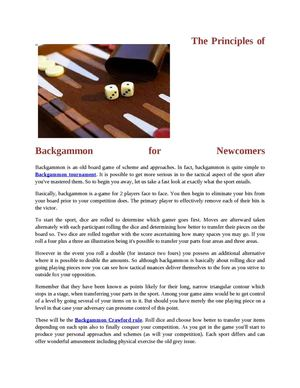 Backgammon Crawford rule
