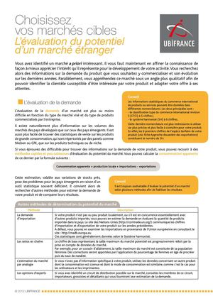 Evaluation du potentiel d'un marché étranger