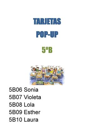 Tarjetas pop-art-5ºB-grupo 2