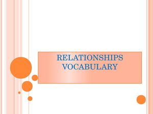 vocabulary relationships