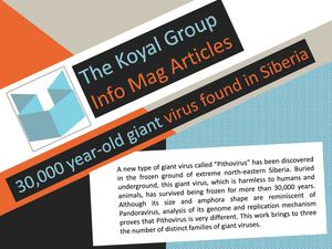 The Koyal Group Info Mag Articles: 30,000 year-old giant virus found in Siberia