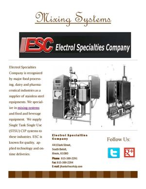 Mixing Systems by Electrol Specialties Company