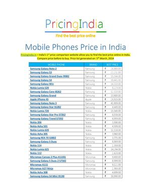 Mobile Phones Price - Cell Phones Buying Guide