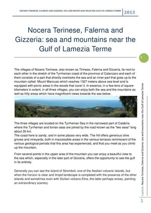 Nocera Terinese, Falerna and Gizzeria: sea and mountains near the Gulf of Lamezia Terme