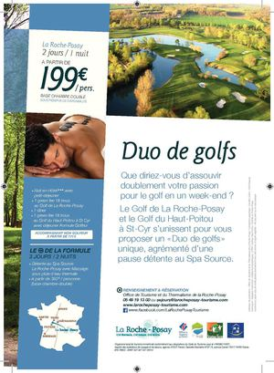 "Week-end ""Duo de Golfs"" à La Roche-Posay"