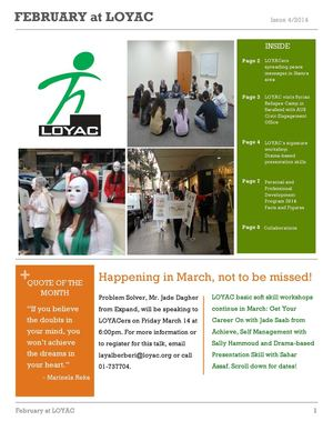 LOYAC LEBANON NEWSLETTER -FEBRUARY 2014