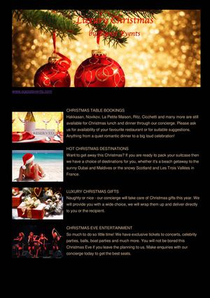 New Year Newsletter from Egoist Events