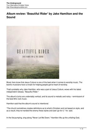 Album review: 'Beautiful Rider' by Jake Hamilton and the Sound