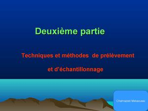 methode de prelevement